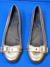 8.5 M Tommy Hilfiger Brown Bronze Metallic Ladies Shoes BLYTHE Women Flat Loafer