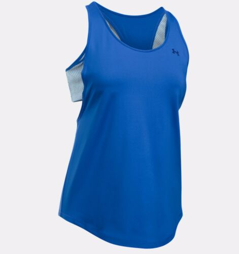 S - Royal Blue 10 Under Armour Women/'s UA Flashy Faux 2 in 1 Tank Top
