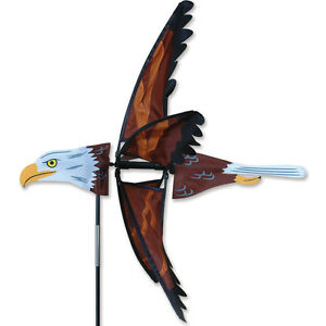 Image Is Loading 25 034 Flying Eagle Garden Stake Wind Spinner