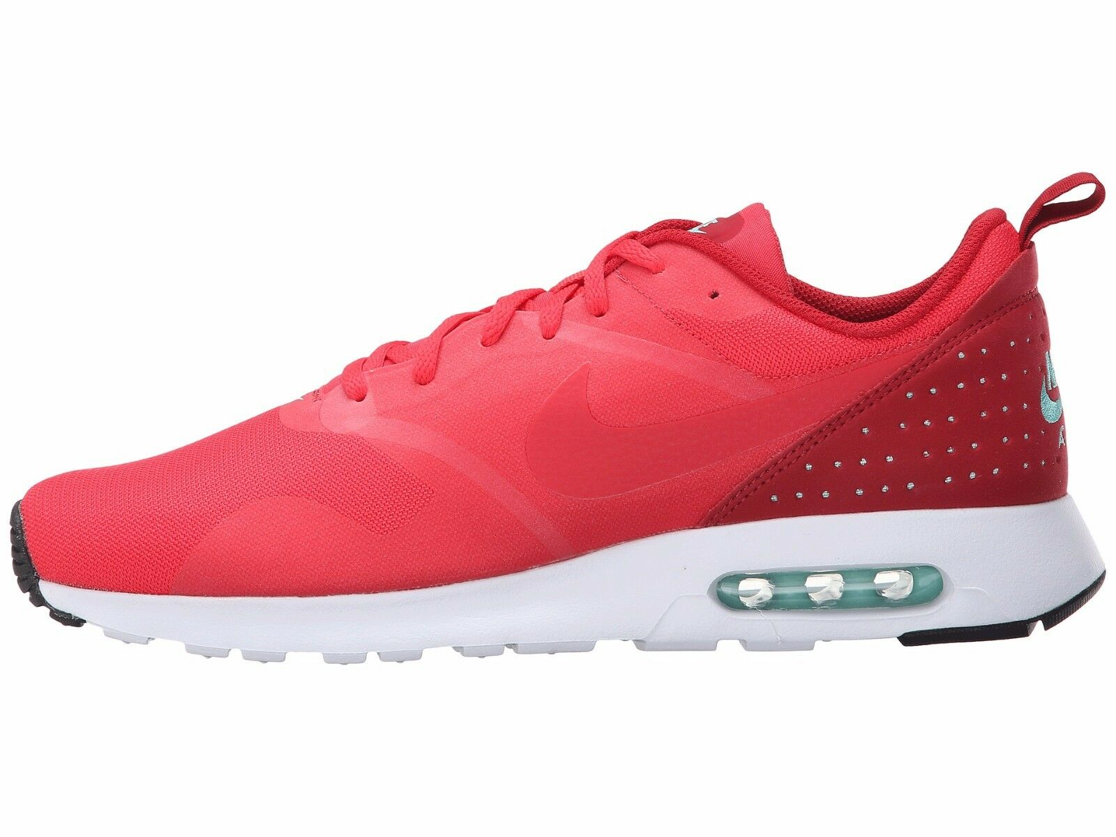 Men's Nike Air Max Tavas Running Shoes, 705149 603 Sizes 11-11.5 Action Red/Whit