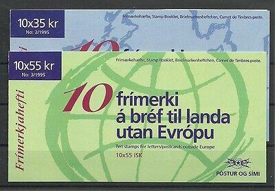 Island Briefmarken Island/ Cept 1995 Minr 826/27 ** In 2 Mh