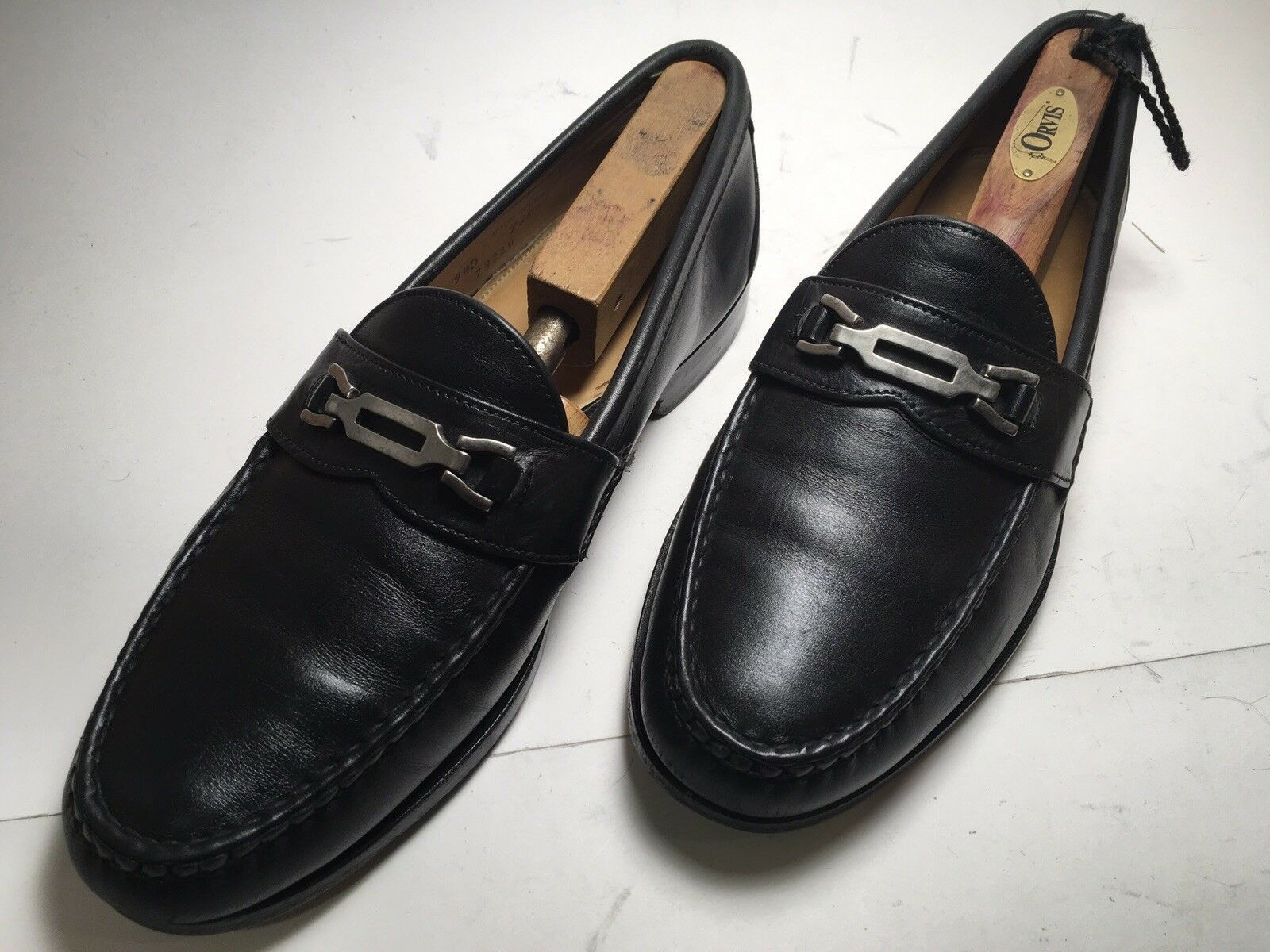Footjoy Black Leather Horsebit Penny Loafer Sz. 9.5 D