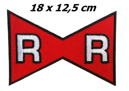 "Dragon Ball Z Red Ribbon  RR Cosplay Costume Patch 7 x 5 /"" 18 x 12,5 cm Iron on"