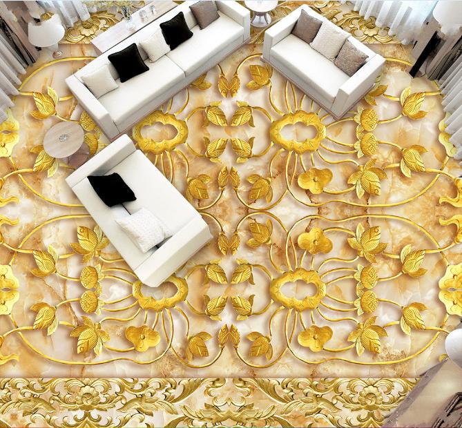 3D Muster Gold 557 Fototapeten Wandbild Fototapete Tapete Familie DE Lemon