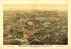 Details about MAP NASHVILLE TENNESSEE 1897 VINTAGE LARGE WALL ART PRINT  POSTER PICTURE LF2600