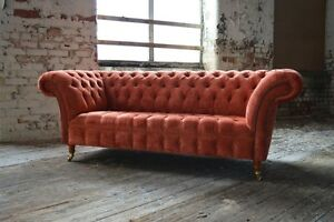 Image Is Loading MODERN HANDMADE CHESTERFIELD SOFA COUCH CHAIR 3 SEATER