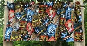 Zombie-Vampire-Scary-Horror-Movie-Monster-Halloween-Handcrafted-Curtain-Valance