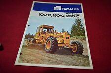 Fiat Allis Chalmers 100-C 150-C 200-C Motor Grader Dealers Brochure YABE11 vr1