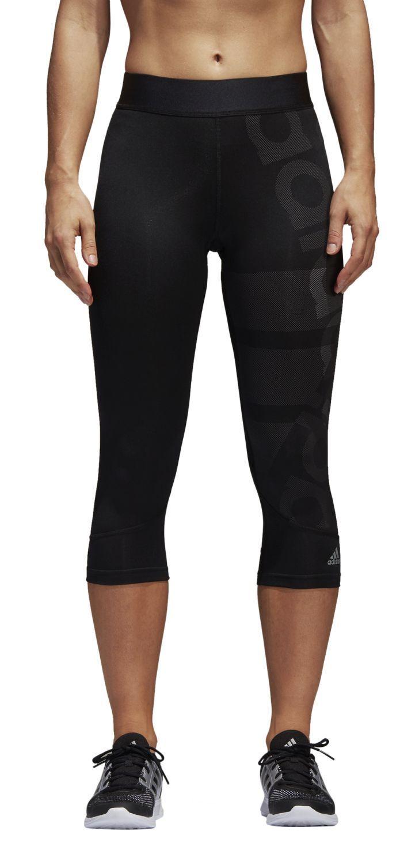 Adidas Performance Deportes de Señoras 3  4 Pantalón Techfit Capri Chapa black  100% fit guarantee
