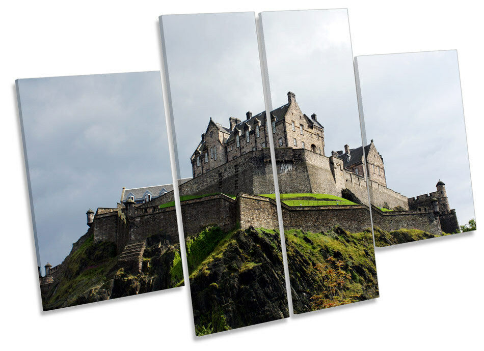 Edinburgh Castle Scotland Landmark CANVAS WALL ART MULTI Panel Print Print Print Picture 41883d