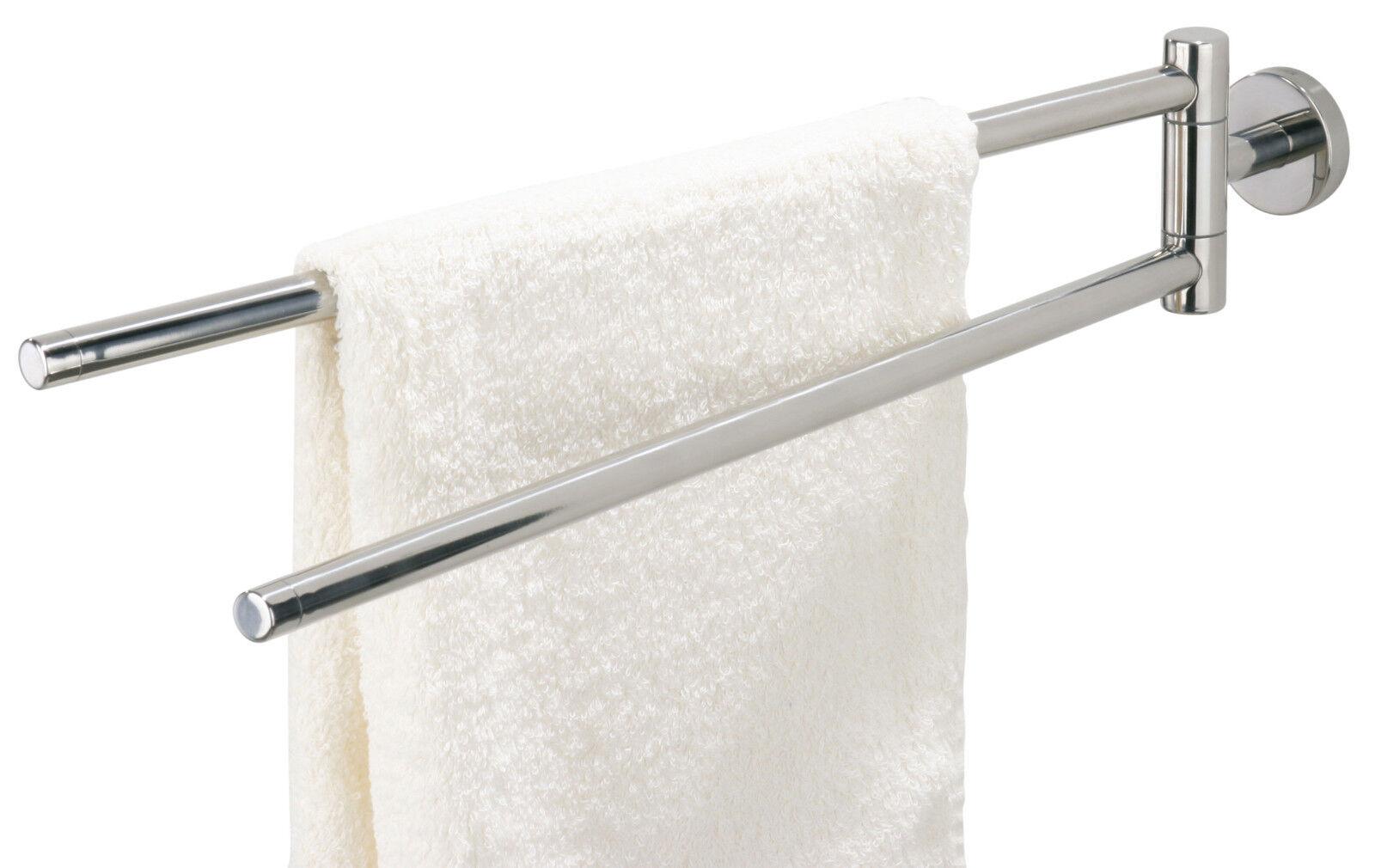 TIGER Handtuchhalter BOSTON 2-armig schwenkbar Oberfläche in Edelstahl gebürstet