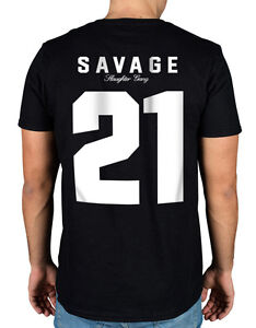 e740f63e55ca 21 Savage Slaughter Gang T-Shirt Savage Mode Red Opps Air it out | eBay