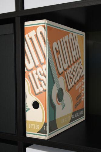 Motiv Akten Ordner Bedruckt 60mm DIN A4 Gitarrenunterricht