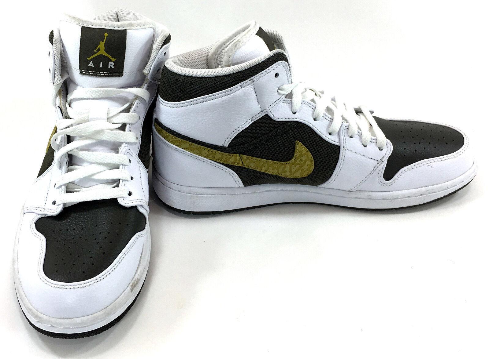 Le scarpe nike jordan 1 phat metà bianco / carico cachi / sfagno scarpe discrepanza / 9
