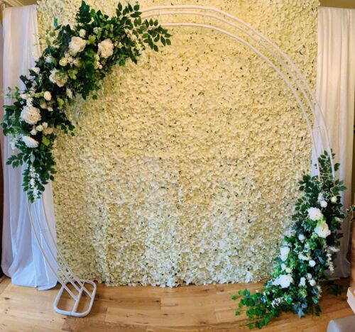 HIRE flower wall WEDDING ARCH backdrop Ivory SM3 Local