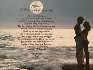 anniversary gift for girlfriend romantic love poem i will always