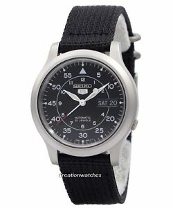Seiko-5-Military-Automatic-Nylon-SNK809K2-Men-039-s-watch