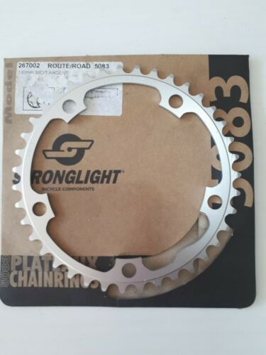 CNC Silver BCD 130mm Stronglight 5803 Dural Chainring 39T