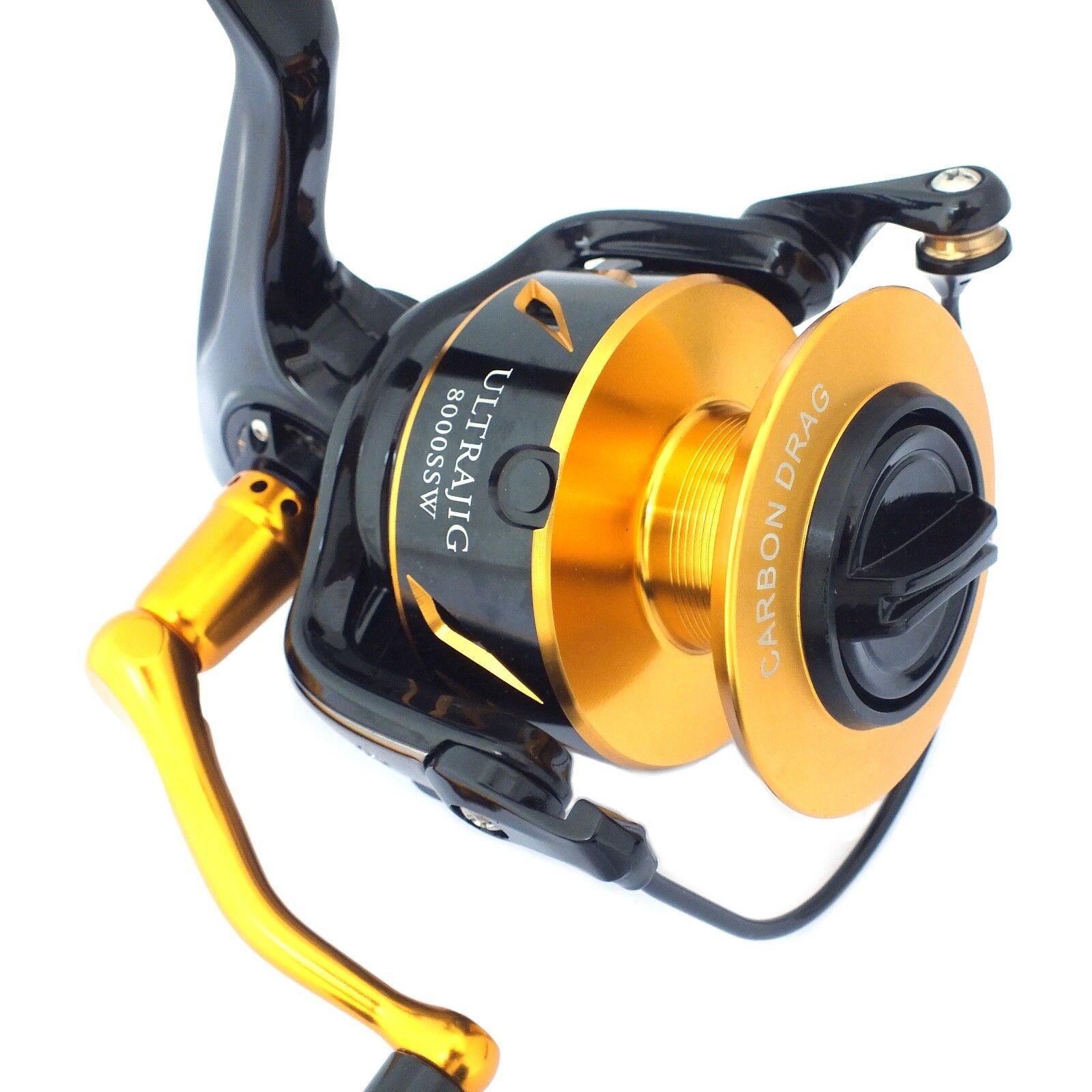 LureKiller Ultrajig 8000SSW Fishing Jig Spinning Reel Full Aluminium Carbon  Drag  new products novelty items