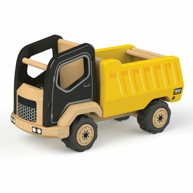 Tidlo Wooden Tipper Truck Construction Vehicles Play Set Roleplay Accessories