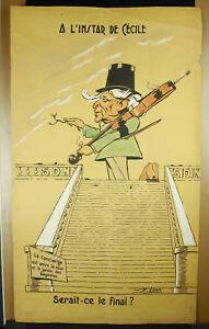 R-Loewe-Zeichnung-Original-c1900-Karikatur-eines-Violocelliste-Haeuptling-Dirigent