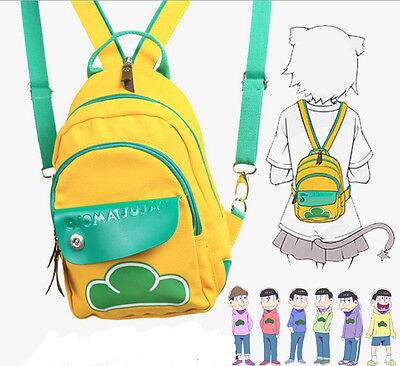 4e8dccc4a4 2017 Mr. Osomatsu-san Kun Student Anime Cartoon Backpack Canvas Bookbag Bag