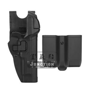 Level 2 Right Hand Pistol Holster w// MOLLE /& Mag Pouch for Beretta 92 96 M9 M92