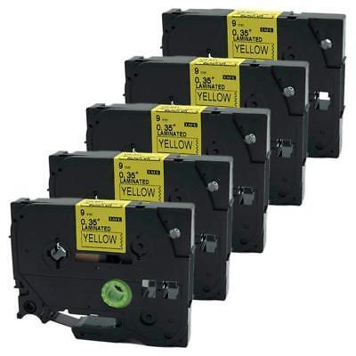 1PK 9mm TZe-621 TZ-621 Black on Yellow Label Tape For Brother PT540 PT320 PT1010