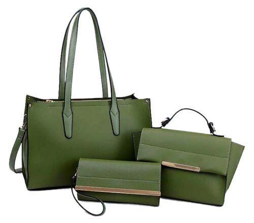Woman Large Briefcase Designer Purse Hobo Green Wallets Matching Tote Handbag wAxaTYCqX
