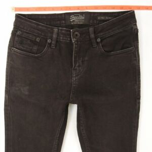 Skinny Superdry Jeans W29 Femme 10 Gris Stretch Uk L32 Taille Ultra fqTt5