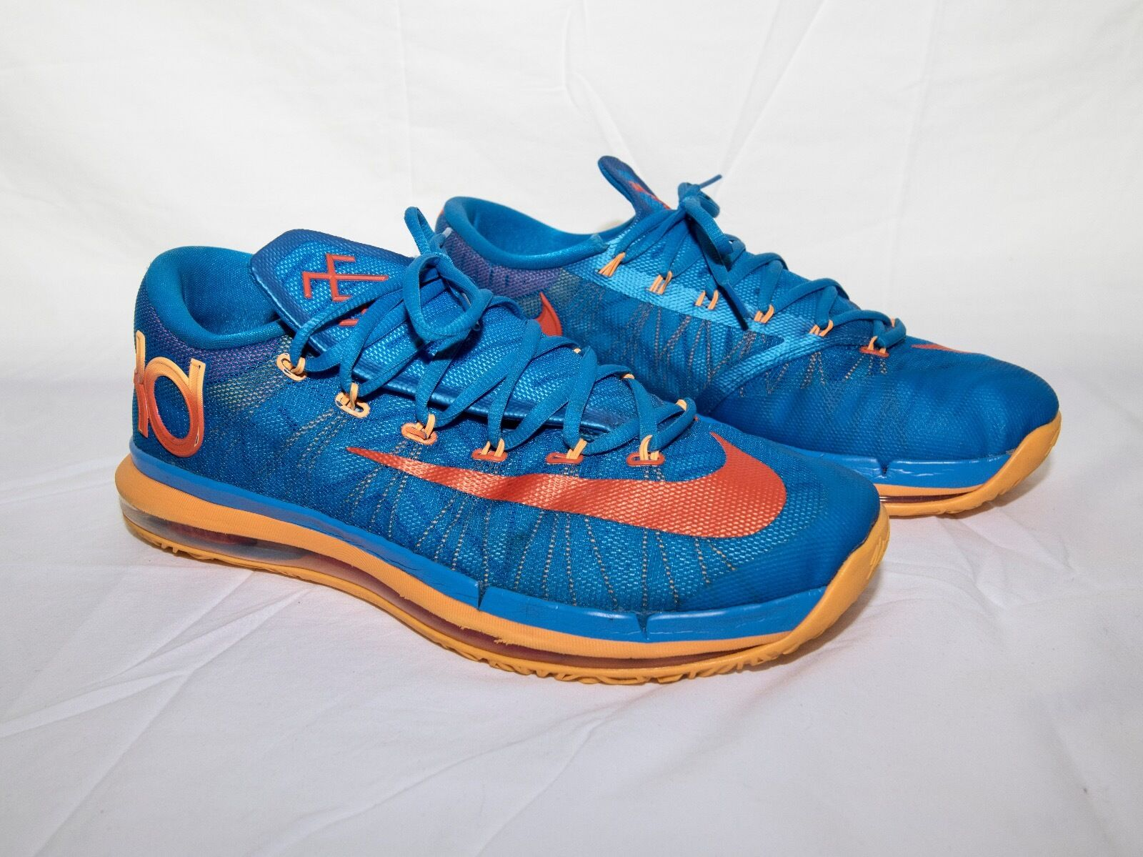 Nike zoom kd vii 7 elite foto blu / atomic orange vivida blu arancione dimensioni