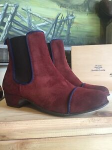 f79b2884160 Kickers Women's Gallagher Slip-On Ankle Boots Red Wine Size EU 38 ...