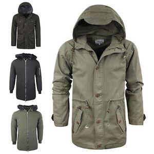 26cbffcb1e Mens Spring Parka Jacket by Brave Soul 'Powell' Cotton Coat Hooded ...