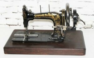 19C Frister & Rossmann Hand Crank Sewing Machine for Parts or Repair [PL4051]