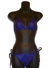 Women Super Hot Wetlook 2 Pc Set Swimsuit Sexy Bikini Dance-wear Lingerie Beach