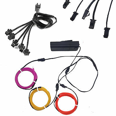 EL Wire1 to 5 Splitter Cable Connector for Neon Strip Light With Inverter DAU
