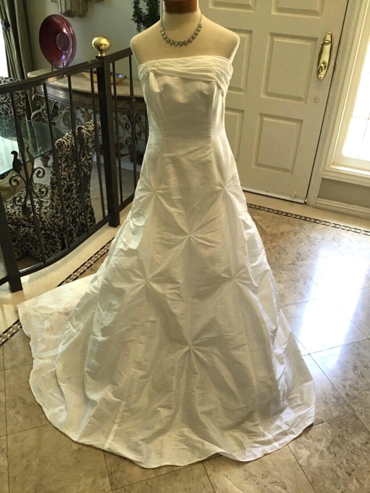 Destiny Braut Hochzeit Abendkleid Kleid Taftkleid Weiß 8 Neu mit Etikett