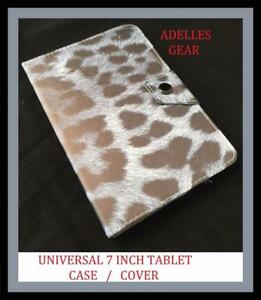 GREY-LEOPARD-PRINT-UNIVERSAL-7-INCH-ANDROID-TABLET-CASE-COVER-GREY-BLACK-LEOPARD