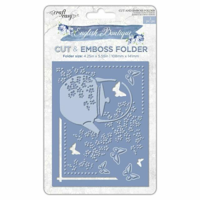 "Craft Easy - English Boutique - 4.25 x 5.5"" Cut & Embossing Folder  - Butterfly"