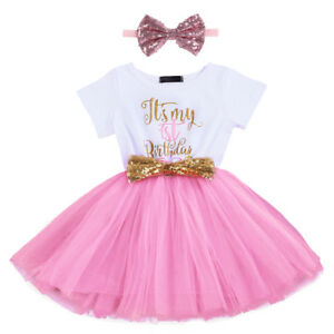 Baby-Girl-1st-2nd-Birthday-Party-Tutu-Dress-Sequin-Headband-Cake-Smash-Outfits