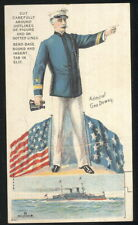 PATRIOTIC TRADE CARD, ADMIRAL DEWEY, CORDOVA COFFEE, DANNEMILLERS CO, CANTON, OH