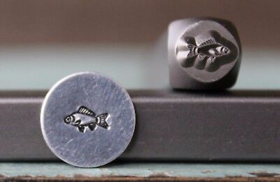 SUPPLY GUY 6mm Fish Bones Metal Punch Design Stamp SGCH-226