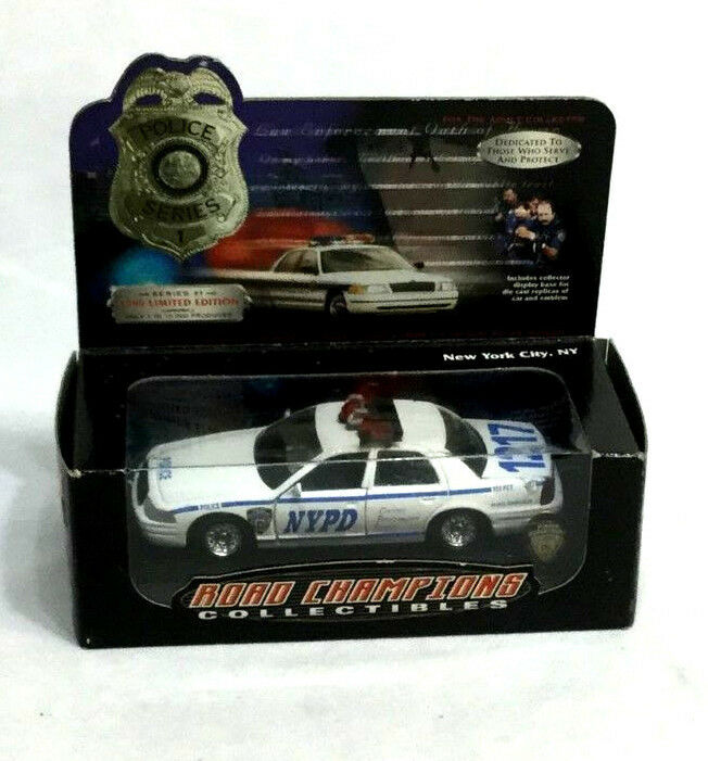 New Road Champions Collectibles New York City Police série voiture Coffret FreeShip