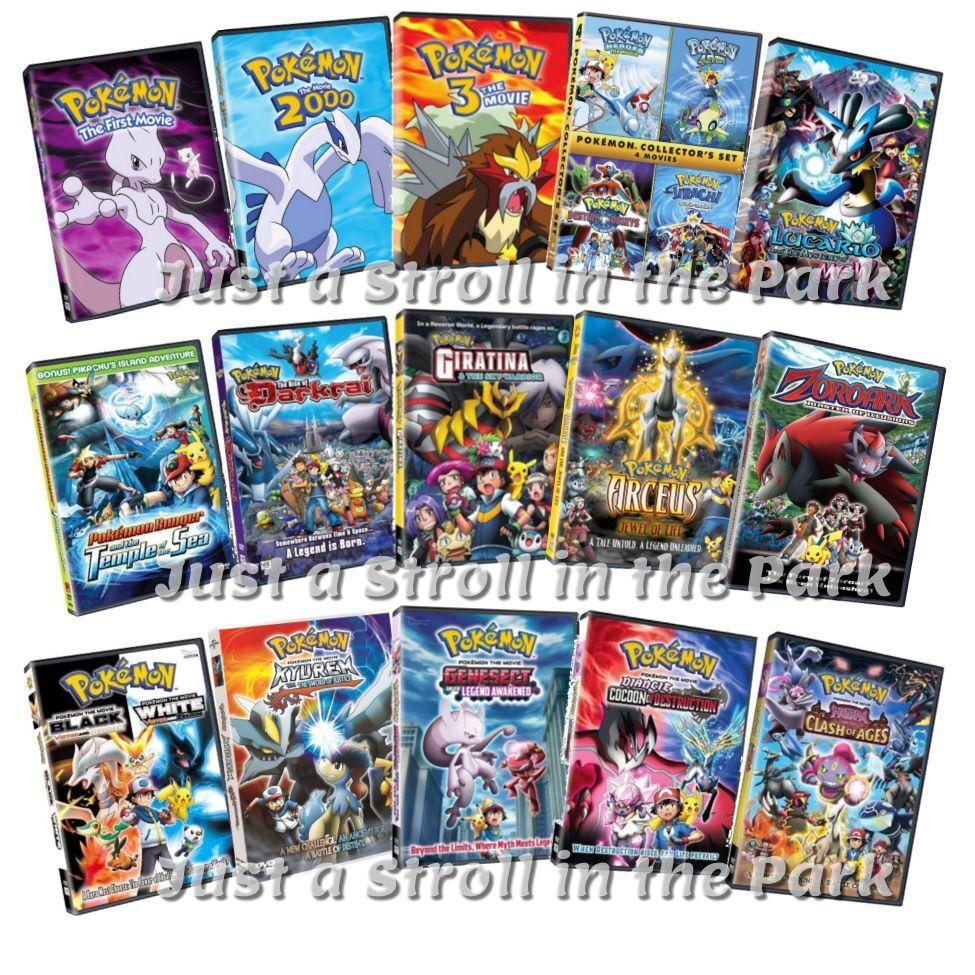Pok 233 Mon Complete Anime Movies 1 18 Pokemon Series 1 4 Box Dvd Set S New Ebay