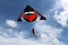 Ring Kite (Red) 6.5x8 ft giant delta easy flyer kite kites includes windsock New
