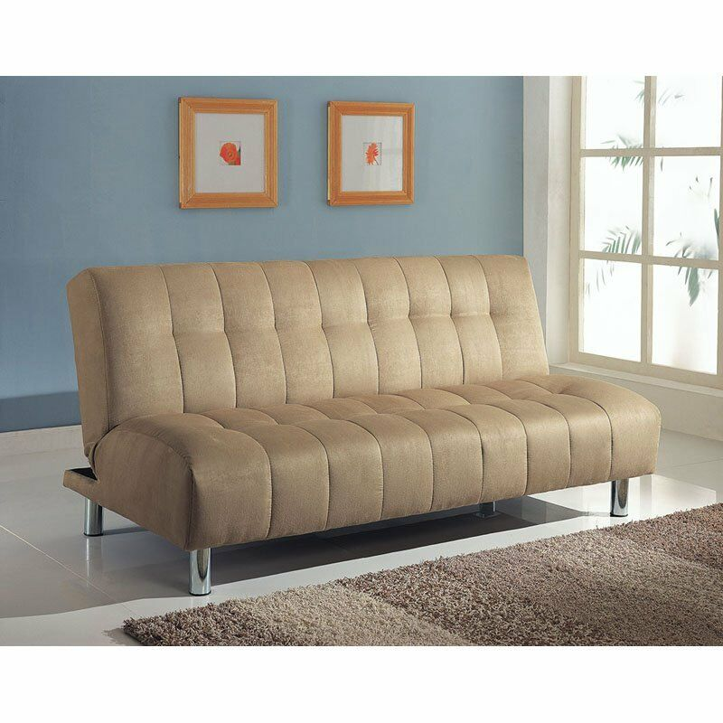 Futon Sofa Bed Modern Couch Mattress Convertible Tufted  : s l1600 from www.ebay.com size 800 x 800 jpeg 83kB
