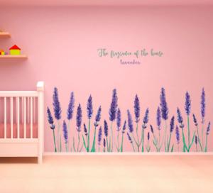 Purple Lavender Wall Sticker Living Room Background Home Decoration Art Decals Ebay