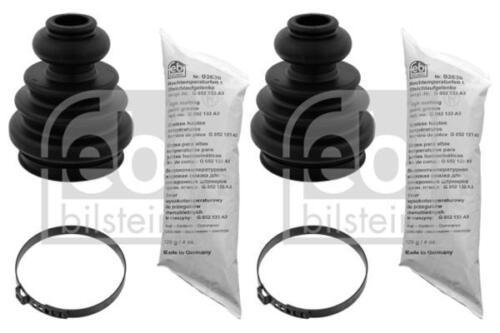 2x CV Boot Driveshaft Rubber Front//Gearbox for AUDI TT 3.2 03-06 8N VR6 Febi