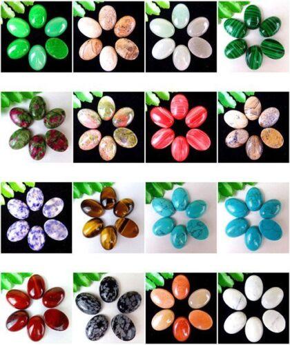 6Pcs Multiple Choice Mixed Gemstone Agate Oval Cab Cabochon 18x13x5mm AE5038