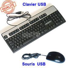 Pack clavier filaire HP français AZERTY souris optique USB logitech IMPECCABLE